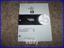 John Deere 230LC 230 LC Excavator Technical Repair Service Shop Manual TM1666
