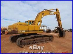John Deere 270LC Hydraulic Excavator withHydraulic Thumb Cab Heat A/C bidadoo