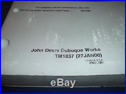 John Deere 27zts Excavator Technical Service Repair Shop Book Manual Tm-1837