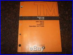 John Deere 290d Excavator Technical Service Operations & Test Manual