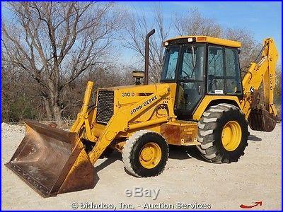 John Deere 310D 4X4 Backhoe Wheel Loader Cab Turbo Diesel Excavator bidadoo