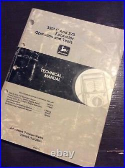 John Deere 330LC 370 Excavator Operation Test Shop Service Repair Manual TM1669