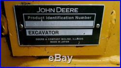 John Deere 35D mini excavigator