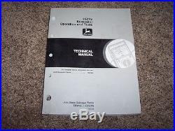 John Deere 35ZTS Excavator Operation & Test Technical Shop Repair Manual TM1840