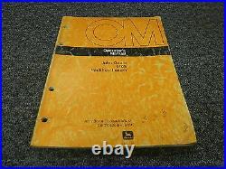 John Deere 410B Backhoe Loader Excavator Owner Operator Manual OMT79035