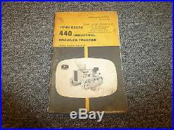 John Deere 440 Industrial Crawler Tractor Dozer Operator User Guide Manual