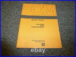 John Deere 450C Crawler Bulldozer Operator User Guide Manual OMT71338