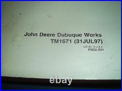 John Deere 450lc Excavator Technical Service Operation & Test Shop Manual Tm1671