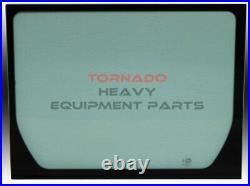 John Deere 4651656 Excavator Rear Window Cab Glass