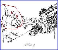 John Deere 4653633 Muffler 135d Excavator Isuzu Diesel Engine