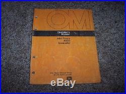 John Deere 490D Excavator Owner Operator Maintenance Manual OMTH108195