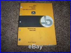 John Deere 490 Excavator Operation & Test Shop Repair Technical Manual TM1302