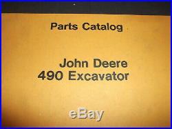 John Deere 490 Excavator Parts Catalog Book Manual Pc-1973