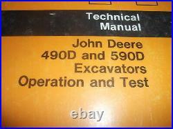 John Deere 490d 590d Excavator Technical Service Shop Op Test Manual Book Tm1389
