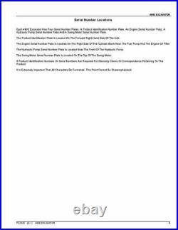 John Deere 490e Excavator Parts Catalog Manual