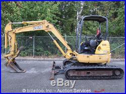 John Deere 50-ZTS Hydraulic Mini Excavator Hyd Thumb 78 Blade Isuzu Diesel 38HP