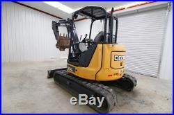 John Deere 50g Mini Track Excavator, 2 Speed, 24 Quick Connect Bucket