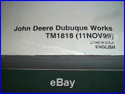 John Deere 50zts Excavator Technical Service Repair Shop Book Manual Tm-1818