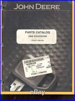 John Deere 590D Excavator Parts Catalog Book Manual