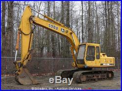 John Deere 590D Hydraulic Excavator Heated Cab Hyd Thumb 36 Bucket bidadoo