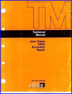John Deere 595D Excavator Technical Shop Service Manual Repair