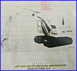 John Deere 690B Excavator Parts Manual Catalog List Book JD PC1370