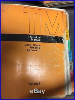 John Deere 690B Excavator Technical Repair Service Shop Manual TM1093 PARTS BOOK