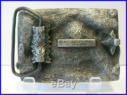 John Deere 690D Excavator 1987 Pewter Belt Buckle Deere & Company Moline Il jd