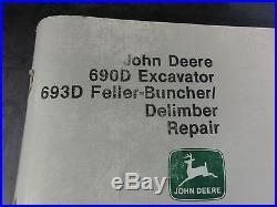 John Deere 690D Excavator 693D Feller Buncher Repair Technical Manual TM1388