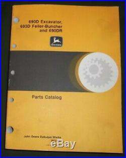 John Deere 690d Excavator 693d Feller Buncher 690dr Parts Manual Book Pc-2151