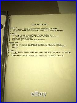 John Deere 690e LC Excavator Tech Manuals, 1-op Test & 1-repair Tm1508