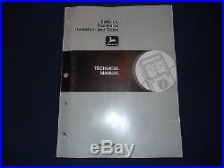 John Deere 690e LC Excavator Technical Service Shop Op Test Manual Book Tm1508