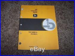John Deere 70D 70 D Excavator Technical Repair Service Shop Manual TM1408