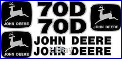 John Deere 70D Excavator Decal Set JD Decals