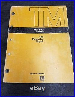 John Deere 70D Excavator Repair Technical Manual TM-1408