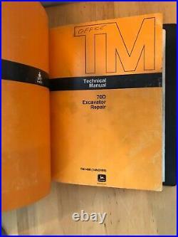 John Deere 70D Excavator Repair and Operation & Tests Manuals (TM1407, TM1408)