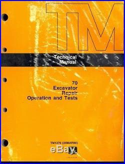 John Deere 70 Excavator Technical Shop Service Repair Manual