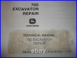 John Deere 70d Excavator Technical Service Shop Repair Manual Book Tm-1408
