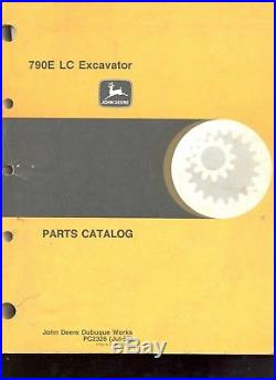 John Deere 790E LC Excavator Parts Book Catalog Manual