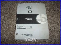 John Deere 792DLC 792D LC Excavator Technical Repair Service Shop Manual TM1596