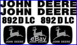 John Deere 892D LC Excavator Decal Set JD Decals