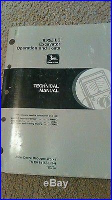 John Deere 892ELC Excavator Operation and Test Manual