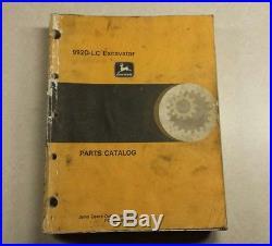 John Deere 992D-LC Excavator Parts Catalog Manual Book PC2280
