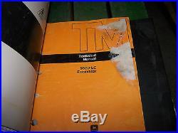 John Deere 992d-lc Excavator Operation, Test & Repair Technical Manual (2 Books)
