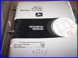 John Deere 992e LC Excavator Operation, Test & Repair Technical Manual