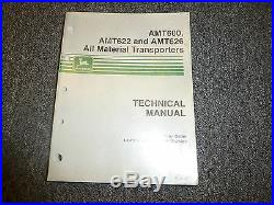 John Deere AMT600 AMT622 AMT626 Vehicle Repair Service Shop Manual Book TM1363