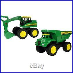 John Deere Big Scoop Excavator and Dump Truck Construction Play Set