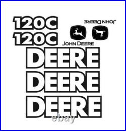 John Deere Excavator 120C Decals Stickers Kit Set JD OE mini midsize track 120 C