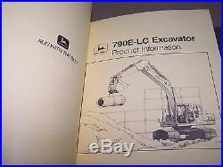 John Deere Excavator & Dozers Product Information (see Pics)