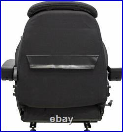 John Deere Excavator Seat Assembly Fits Various Models Black Cloth